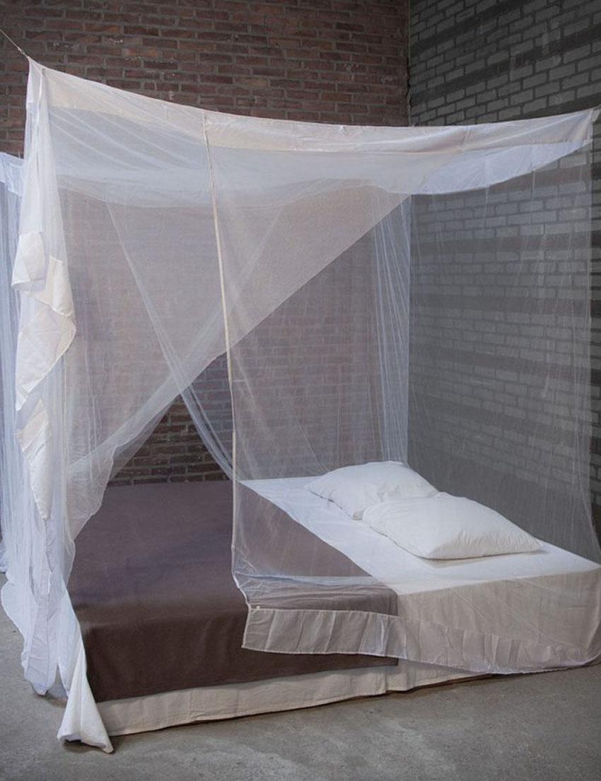 پشه بند چهار گوش کلاسیک مناسب برای تخت دو نفره