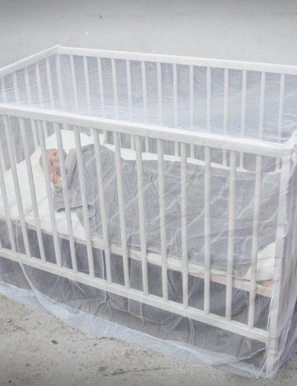 پشه بند نوزادی مدل کلبه